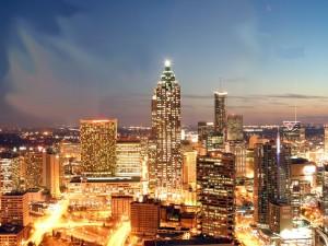 Огни ночного города Атланта