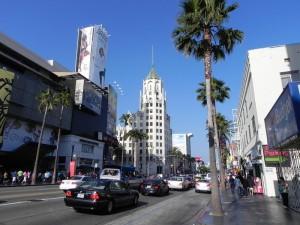Голливудский бульвар в Лос-Анджелесе