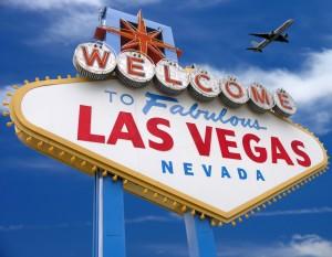 Дорожный указатель с надписью Лас-Вегас