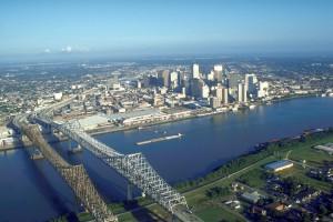 Мосты через речку в Новом Орлеане