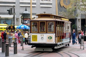 Трамвай на улицах Сан-Франциско