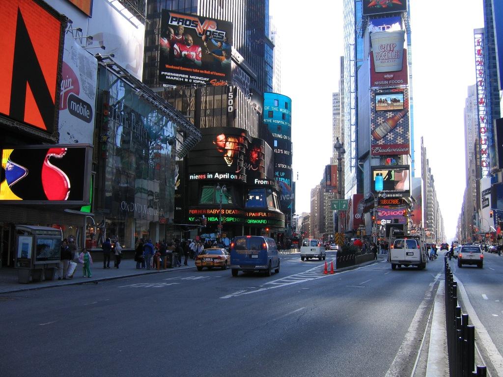 Красивая улица в америке с оживленным