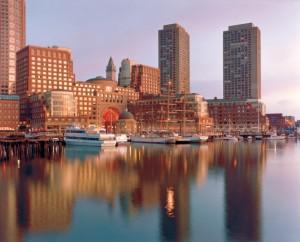 Вид на Бостон с моря