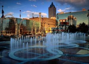 Красивый фонтан в Атланте