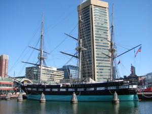 Красивый корабль в Балтимор