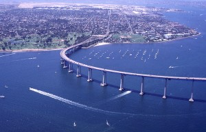 Полукруглый мост в Сан-Диего