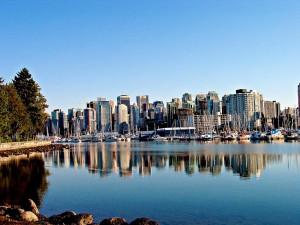 Красивый курортный город-порт Ванкувер