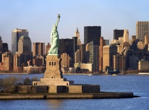 Статуя Свободы с высоты