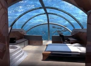 Номер в подводном отеле Jules' Undersea Lodge