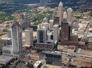 Центр города Шарлотт с небоскрёбами
