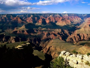 Горная местность с высоты в США