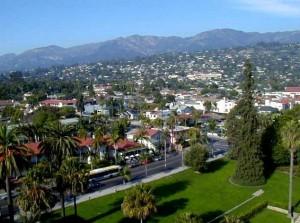 Город Санта-Барбара с высоты