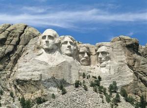 Гора памятник Рашмор в США