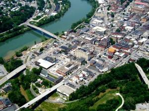 Город в Виргиния с высоты