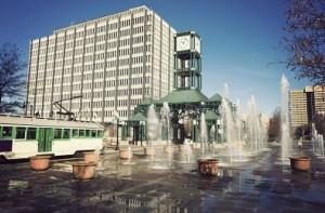 Площадь с фонтанами в Мемфис
