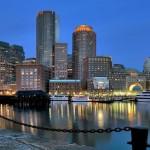 Вечерняя набережная Бостона