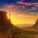 Закат в национальном парке «Долина монументов»