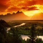 Змеиная река в национальном парке Гранд Титон