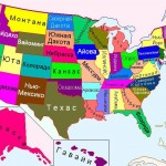 Штаты США на карте