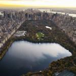 Панорама центрального парка Нью — Йорка