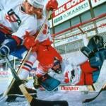Хоккейный матч между США и Канадой