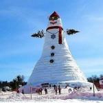Самый большой снеговик в США