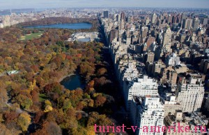 New York City's Central Park along Fifth