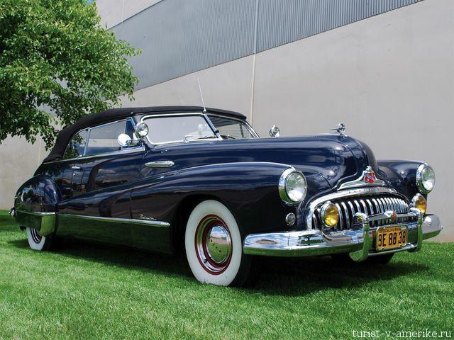 Классический_американский_автомобиль_ 1948 Buick_Roadmaster_Convertible