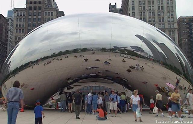 Скульптура_Облачные_ворота_в_Чикаго