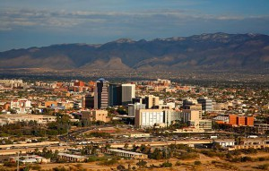 View of Tucson, Arizona.