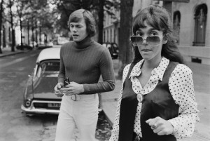 Richard and Karen Carpenter Crossing a Street