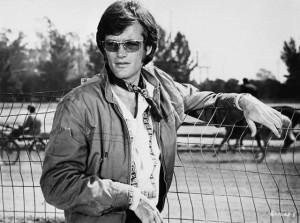 "Peter Fonda in Scene Ffrom ""Easy Rider"""