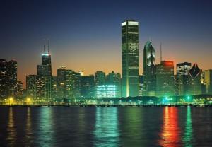 Чикаго_ночью_фото