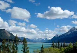 abraham lake,alberta canada