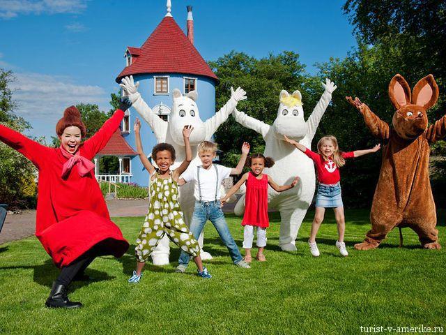 Туристические поездки в Финляндию на такси: парк «Мумми-дол»