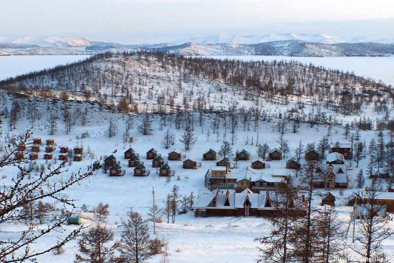 """База отдыха """"Чара"""", Байкал, зима"""