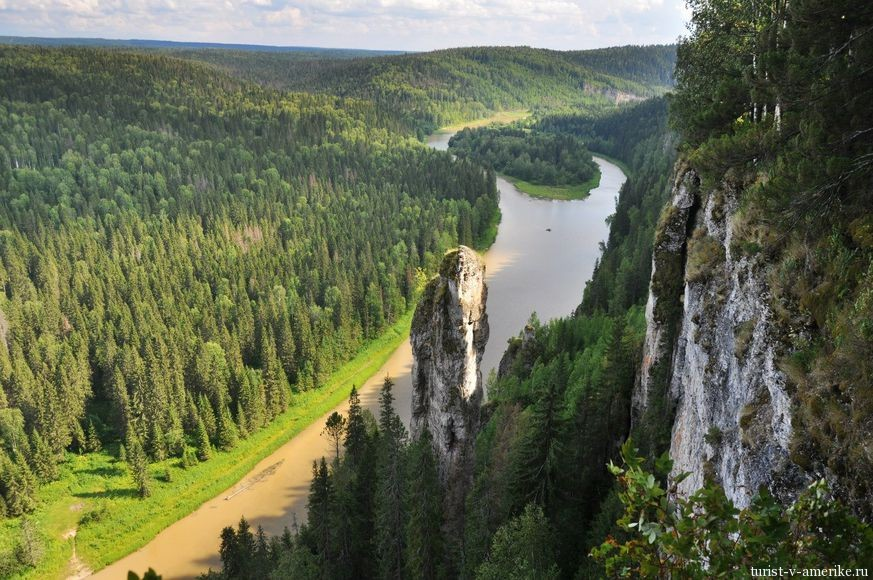 Усьвинские столбы на реке Усьва, Урал